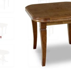 stolik zaowalony