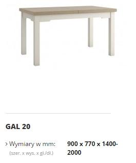 galia stół gal 20