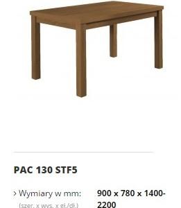 pacyfik stół 130 STF5