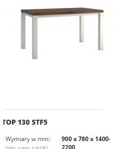 topaz stół top 130 STF5