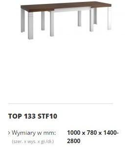topaz stół top 133 STF10